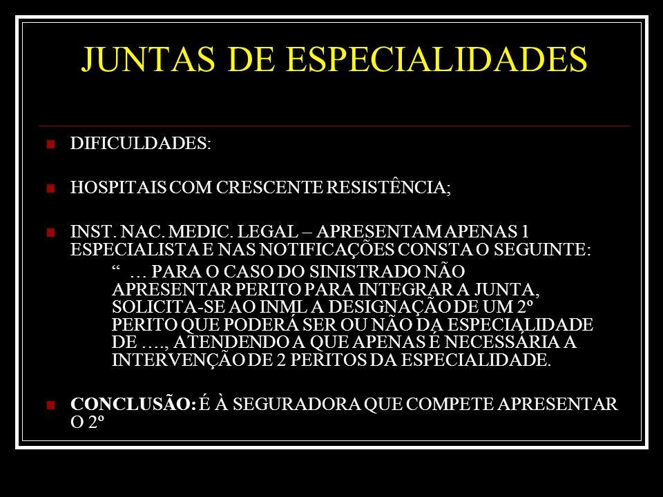 JUNTAS DE ESPECIALIDADES