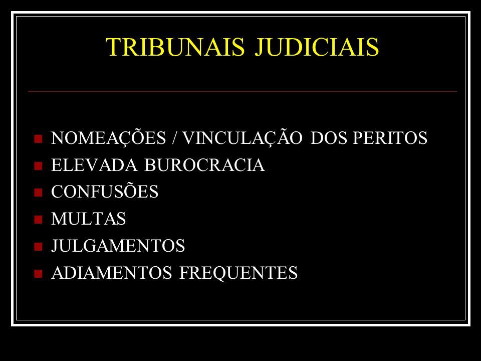 TRIBUNAIS JUDICIAIS NOMEAÇÕES / VINCULAÇÃO DOS PERITOS