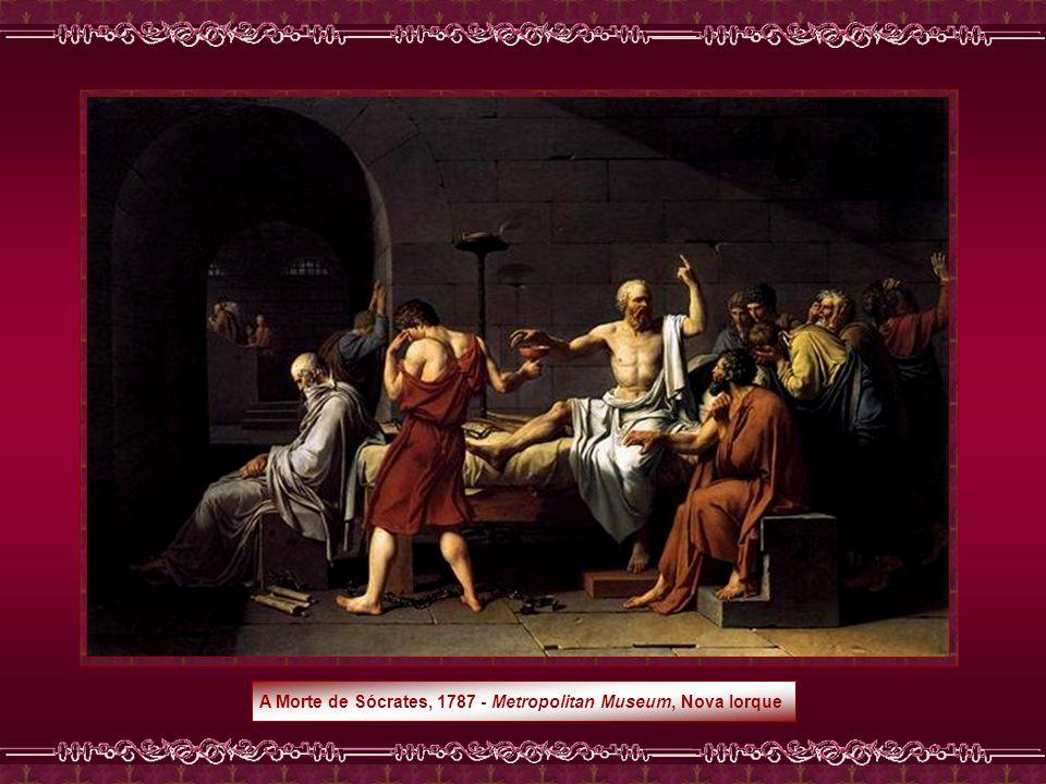A Morte de Sócrates, 1787 - Metropolitan Museum, Nova Iorque