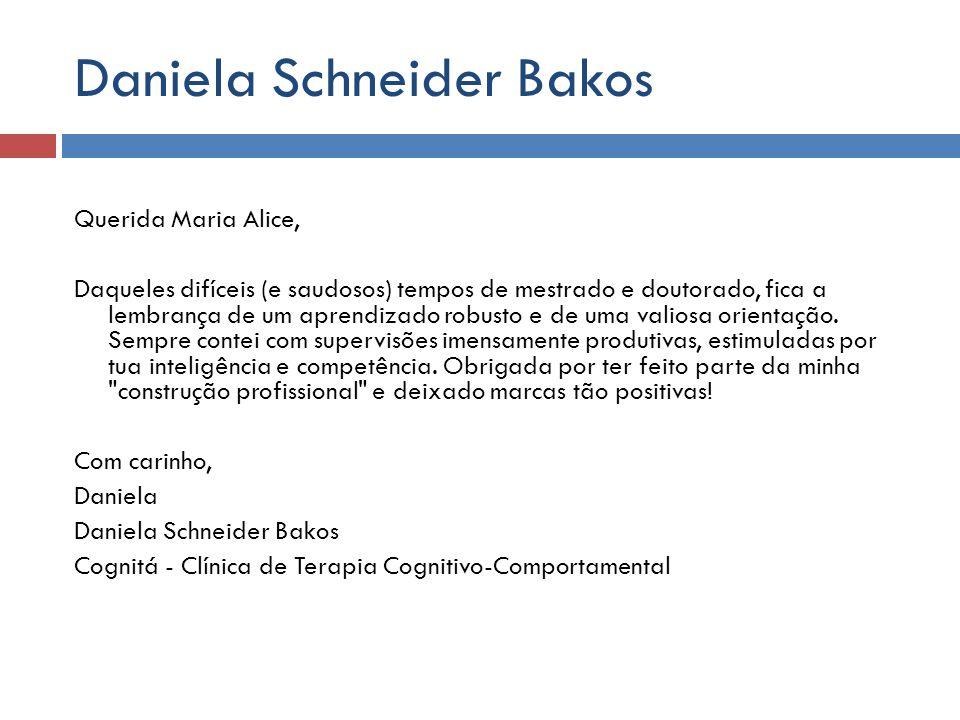 Daniela Schneider Bakos