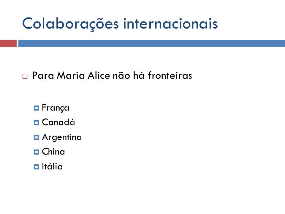 Colaborações internacionais