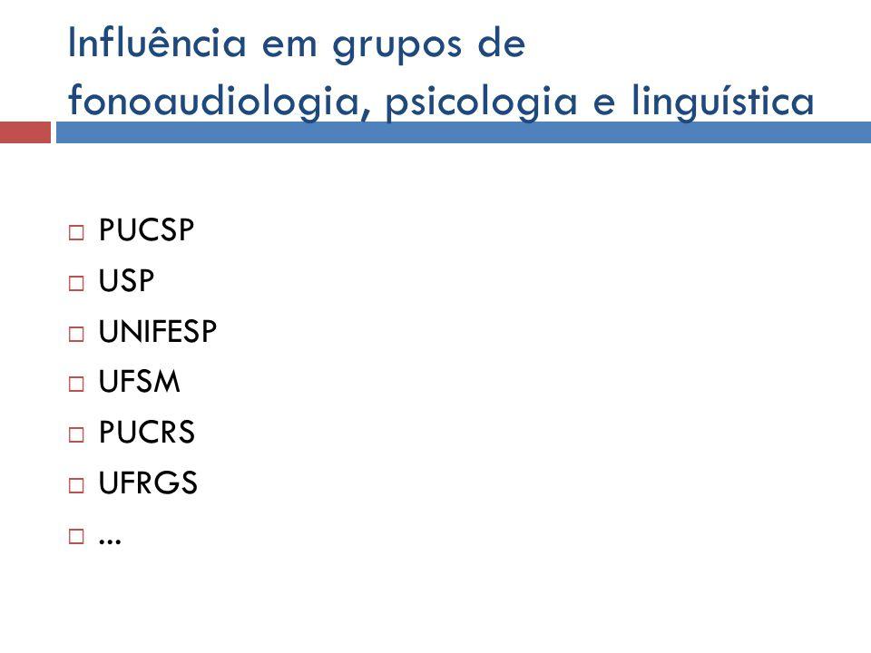 Influência em grupos de fonoaudiologia, psicologia e linguística