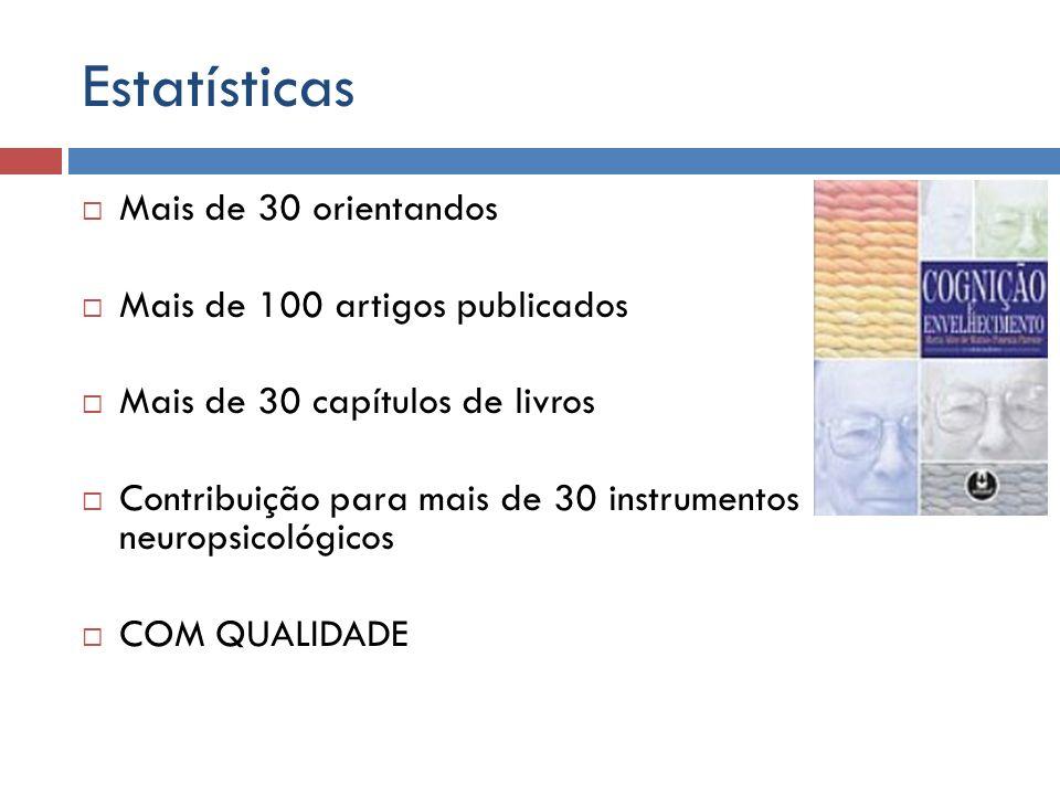 Estatísticas Mais de 30 orientandos Mais de 100 artigos publicados