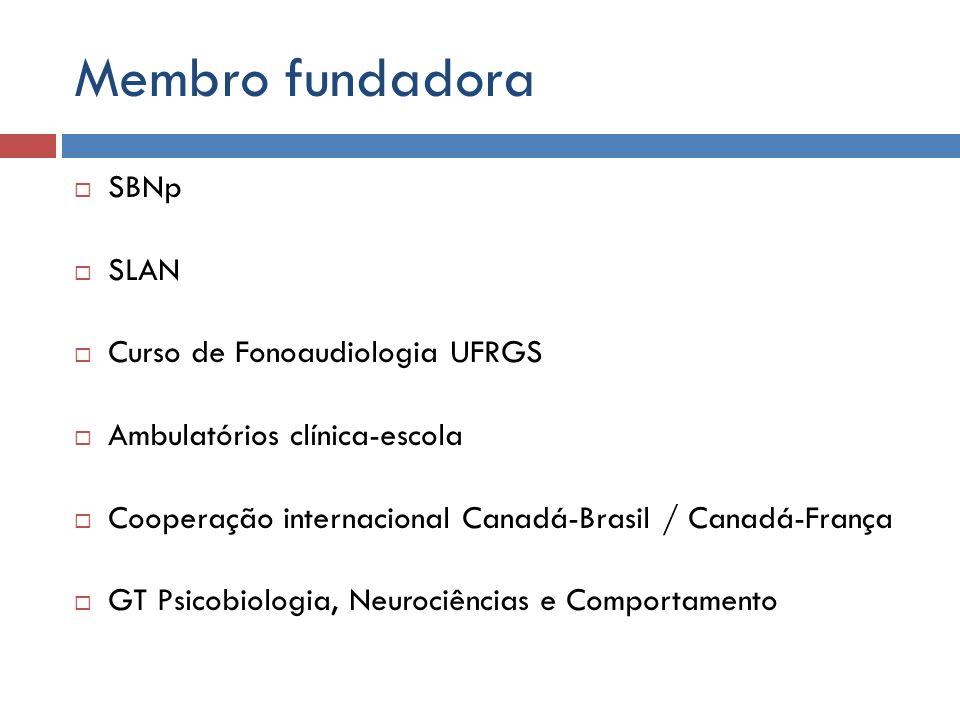 Membro fundadora SBNp SLAN Curso de Fonoaudiologia UFRGS