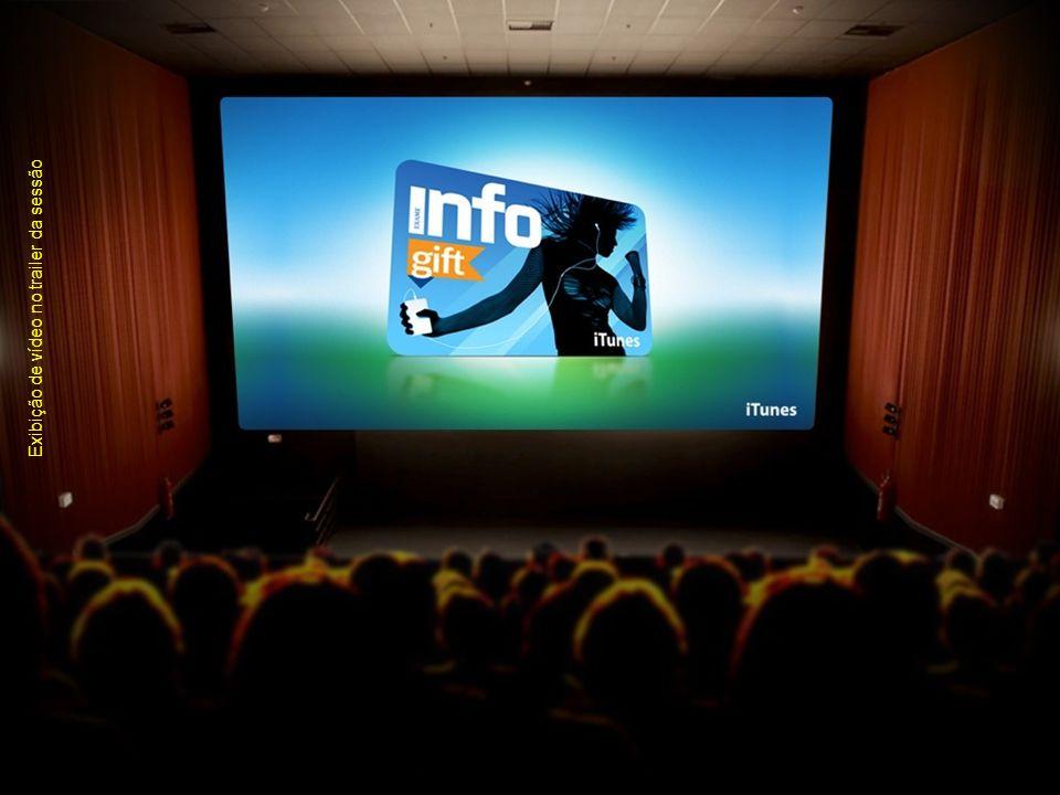 Exibição de vídeo no trailer da sessão