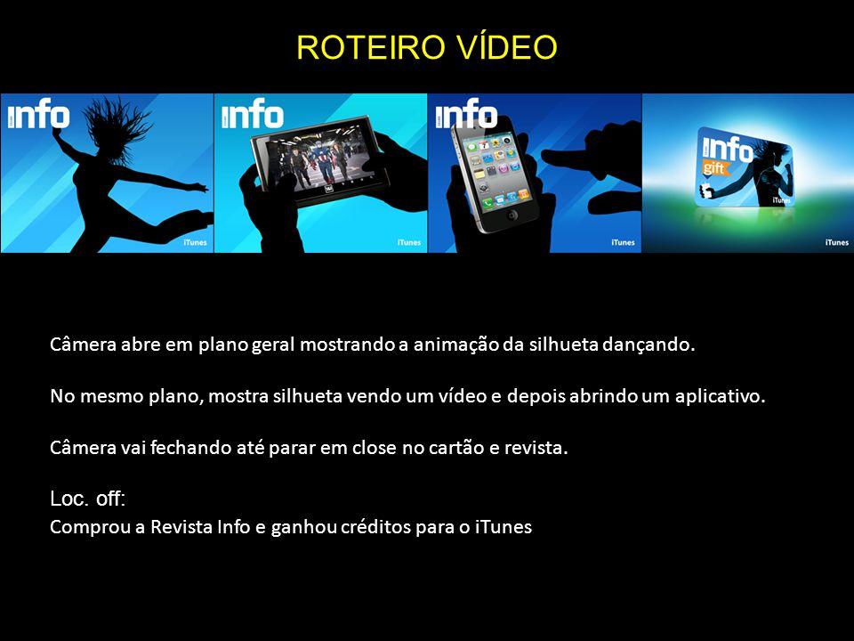 ROTEIRO VÍDEO Câmera abre em plano geral mostrando a animação da silhueta dançando.