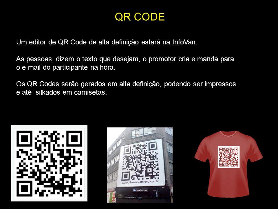 QR CODE Um editor de QR Code de alta definição estará na InfoVan.