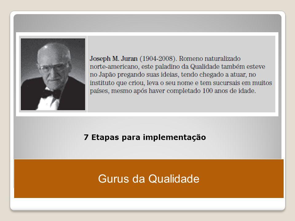 Gurus da Qualidade 7 Etapas para implementação