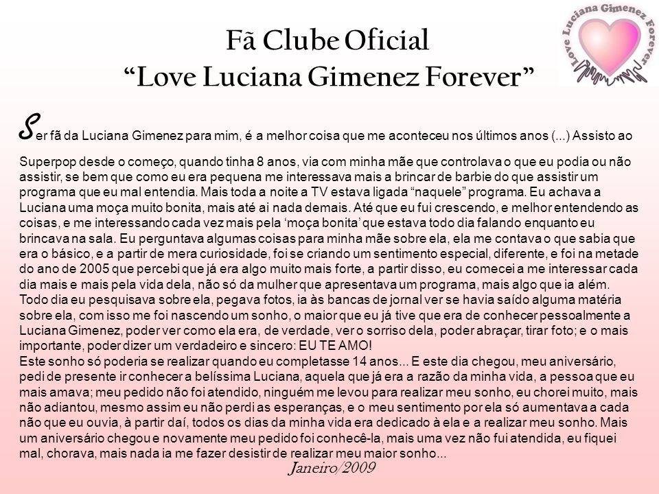 Fã Clube Oficial Love Luciana Gimenez Forever