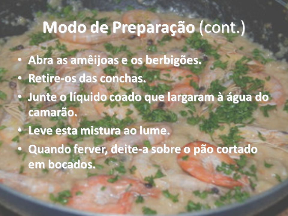 Modo de Preparação (cont.)