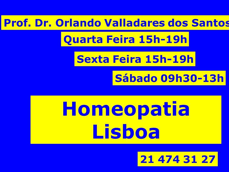 Homeopatia Lisboa Prof. Dr. Orlando Valladares dos Santos