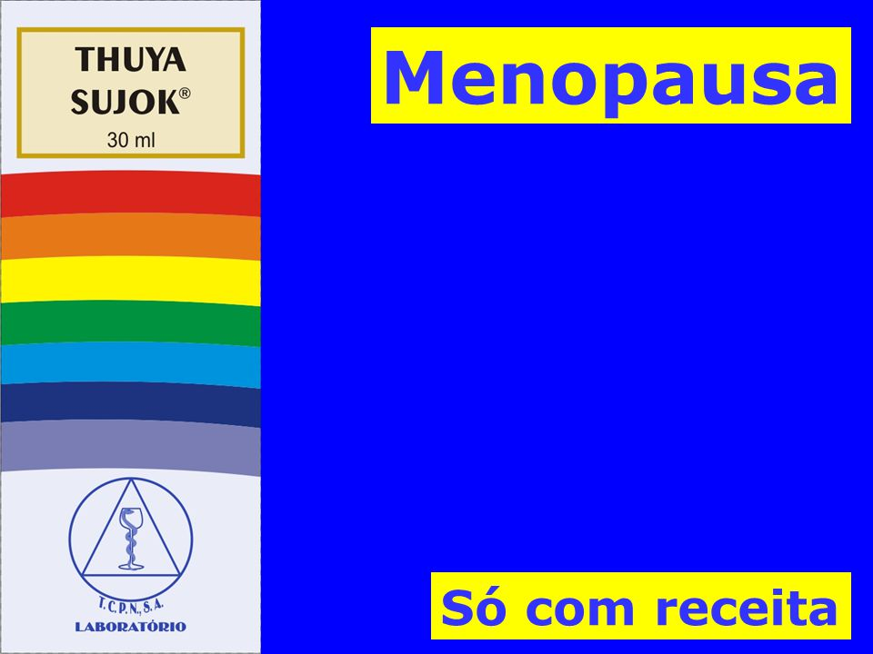 Menopausa Só com receita