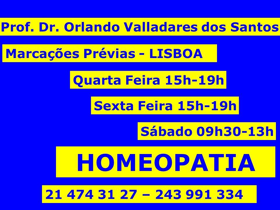HOMEOPATIA Prof. Dr. Orlando Valladares dos Santos