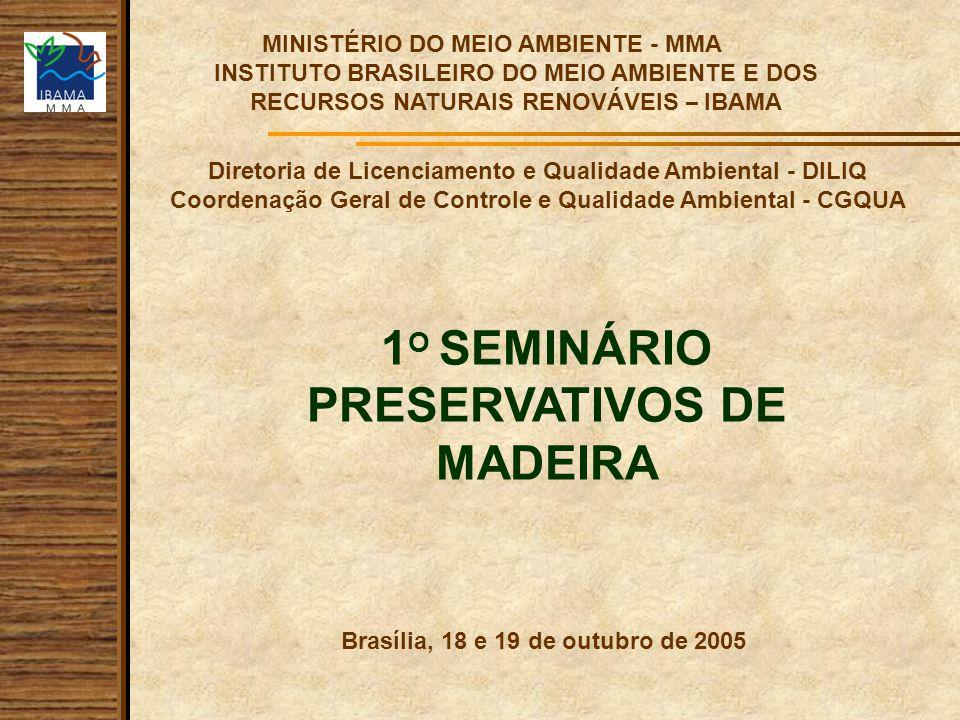 1O SEMINÁRIO PRESERVATIVOS DE MADEIRA