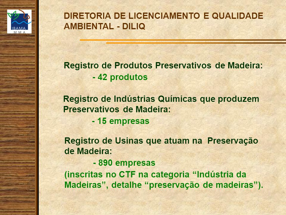 DIRETORIA DE LICENCIAMENTO E QUALIDADE AMBIENTAL - DILIQ