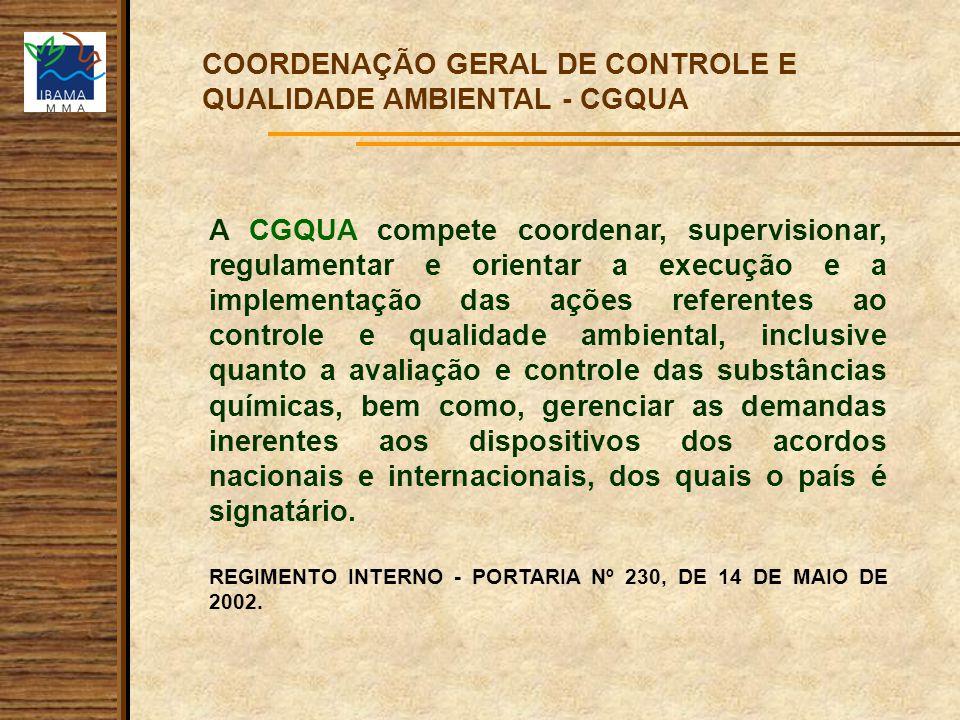 COORDENAÇÃO GERAL DE CONTROLE E QUALIDADE AMBIENTAL - CGQUA
