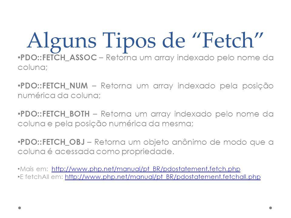 Alguns Tipos de Fetch