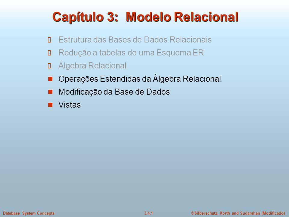 Capítulo 3: Modelo Relacional
