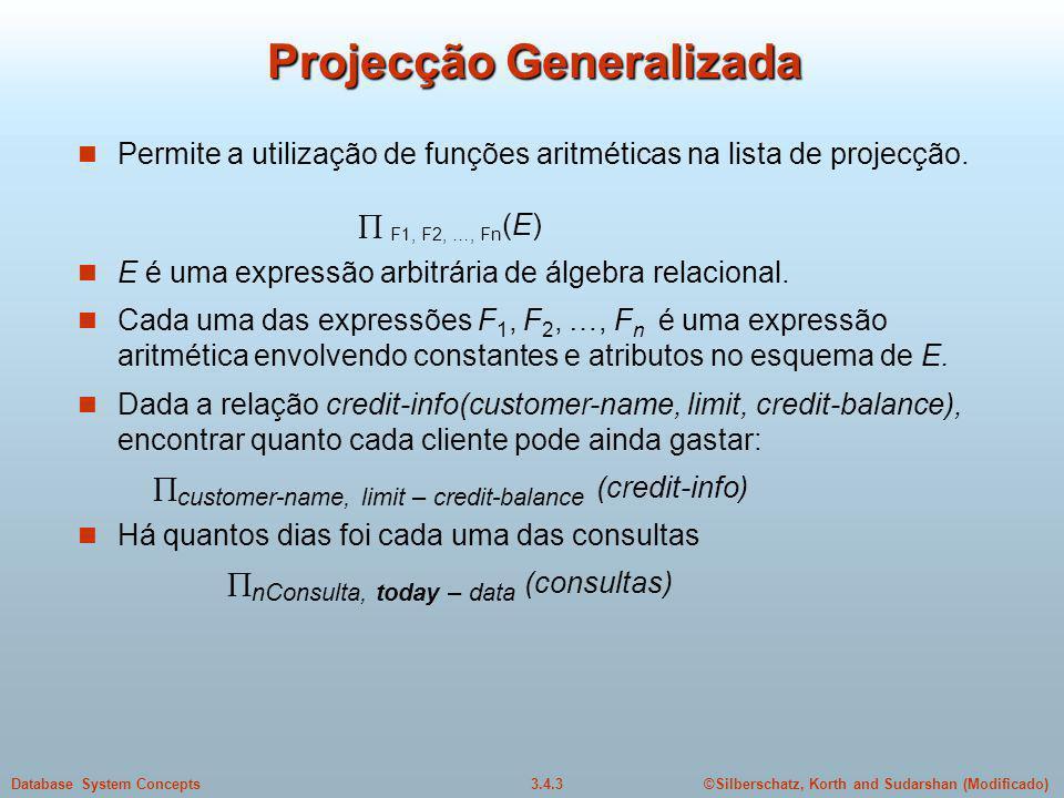 Projecção Generalizada
