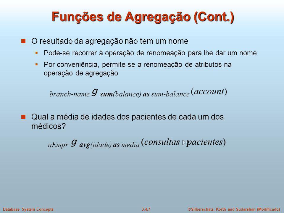 Funções de Agregação (Cont.)