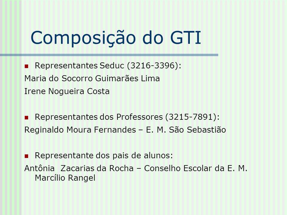 Composição do GTI Representantes Seduc (3216-3396):