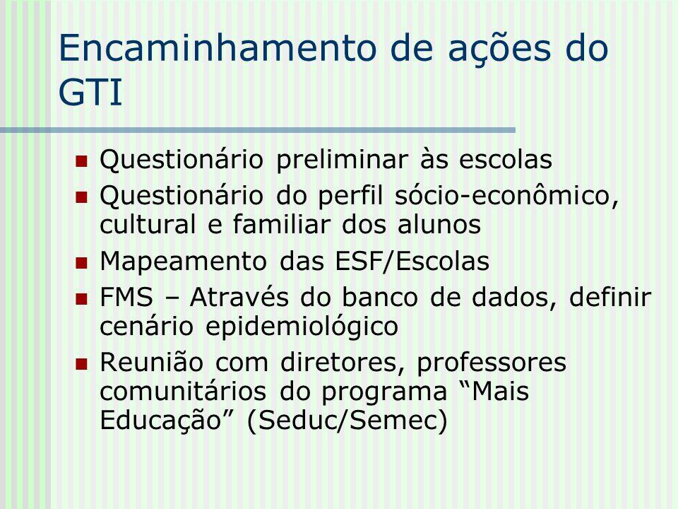 Encaminhamento de ações do GTI