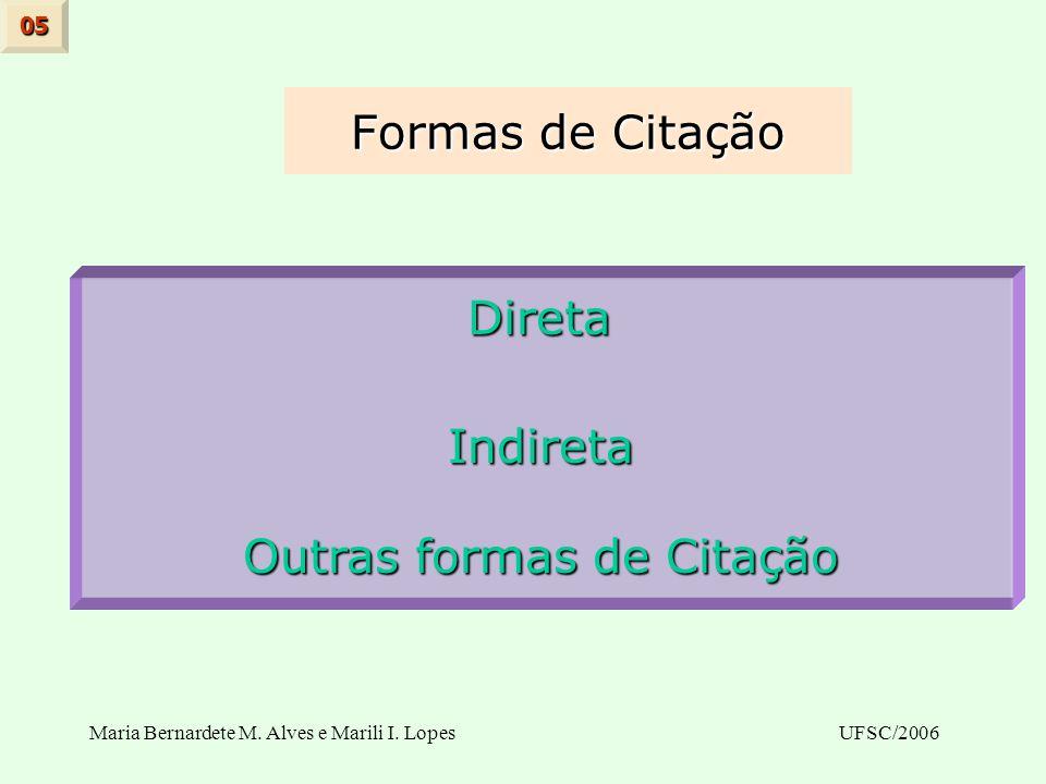 Outras formas de Citação