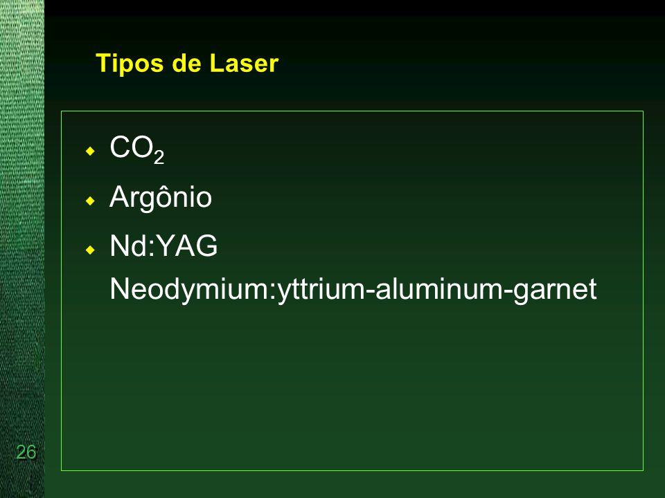 Nd:YAG Neodymium:yttrium-aluminum-garnet