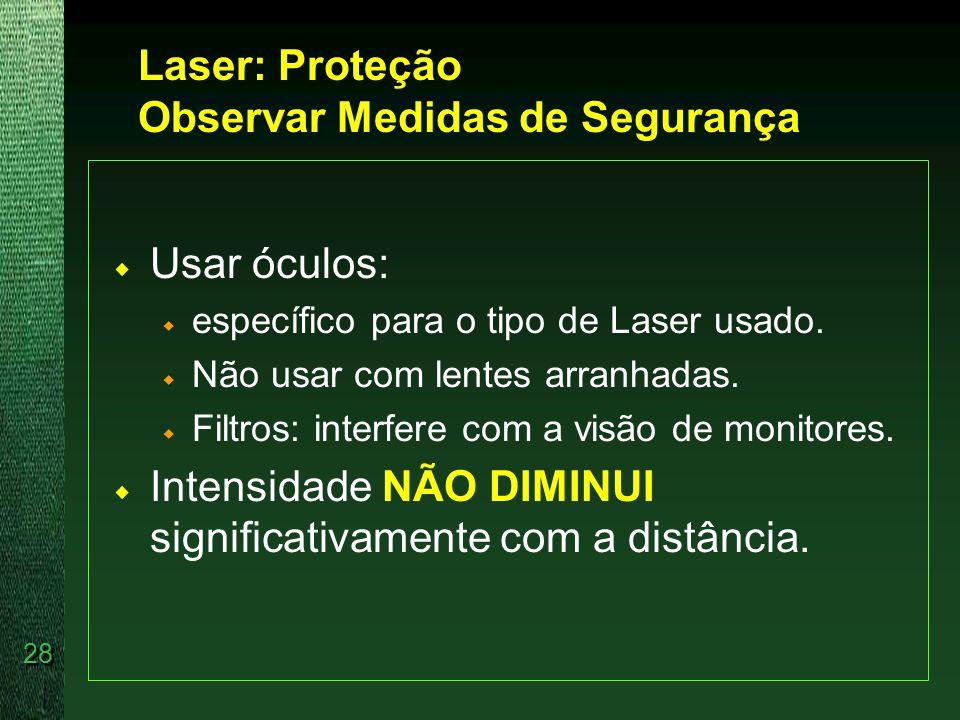 Laser: Proteção Observar Medidas de Segurança
