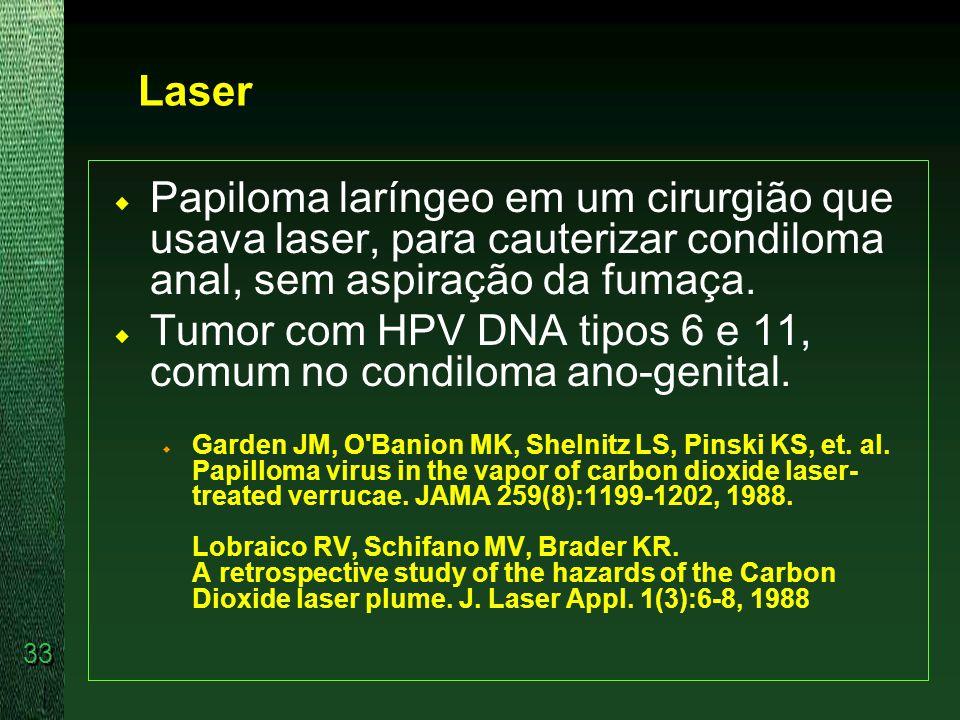 Tumor com HPV DNA tipos 6 e 11, comum no condiloma ano-genital.