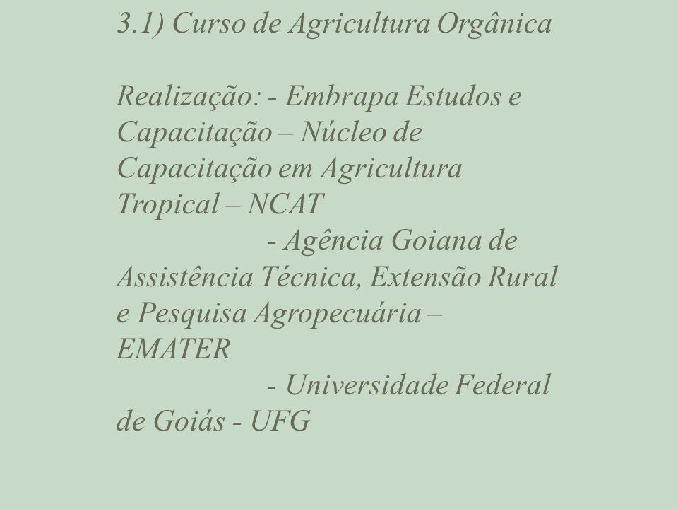 3.1) Curso de Agricultura Orgânica