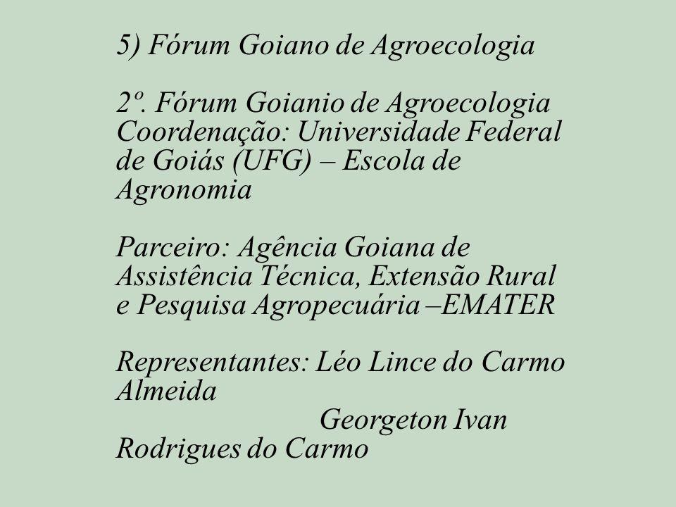 5) Fórum Goiano de Agroecologia
