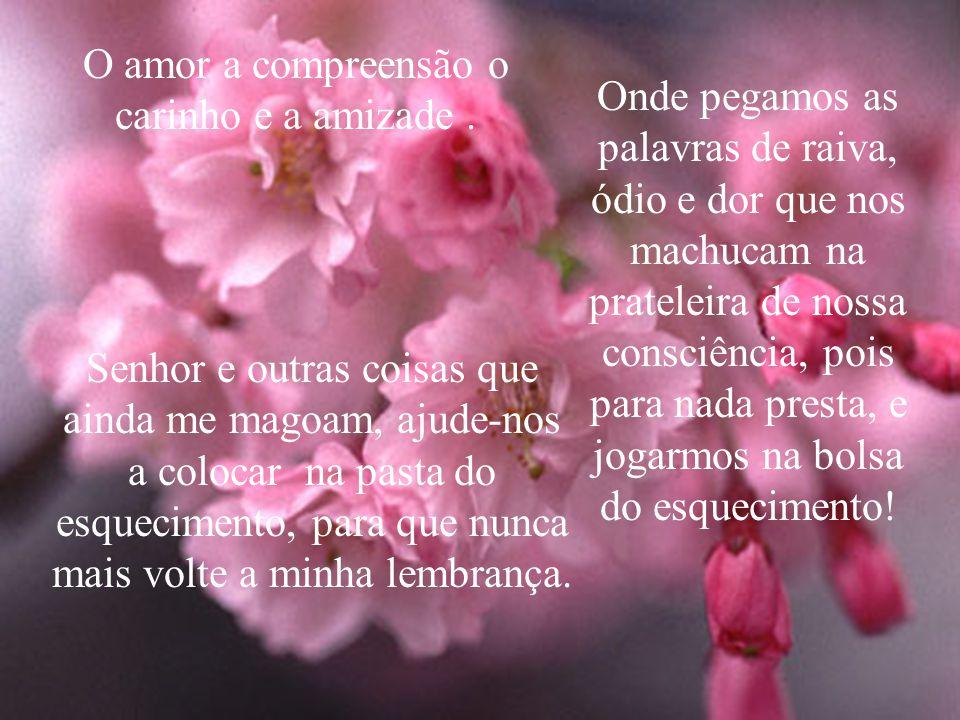 O amor a compreensão o carinho e a amizade .