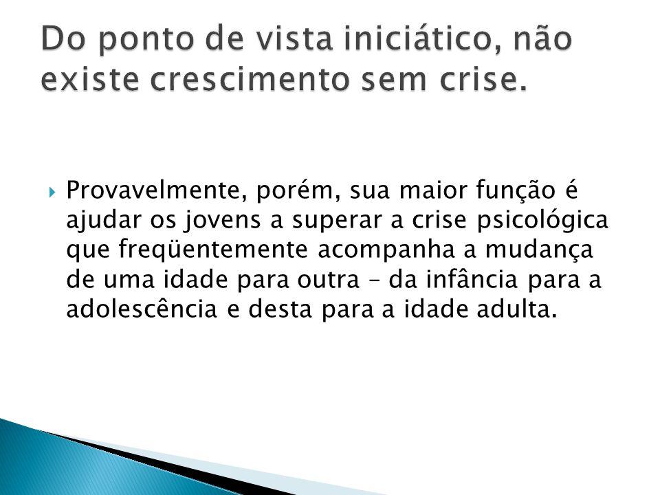 Do ponto de vista iniciático, não existe crescimento sem crise.