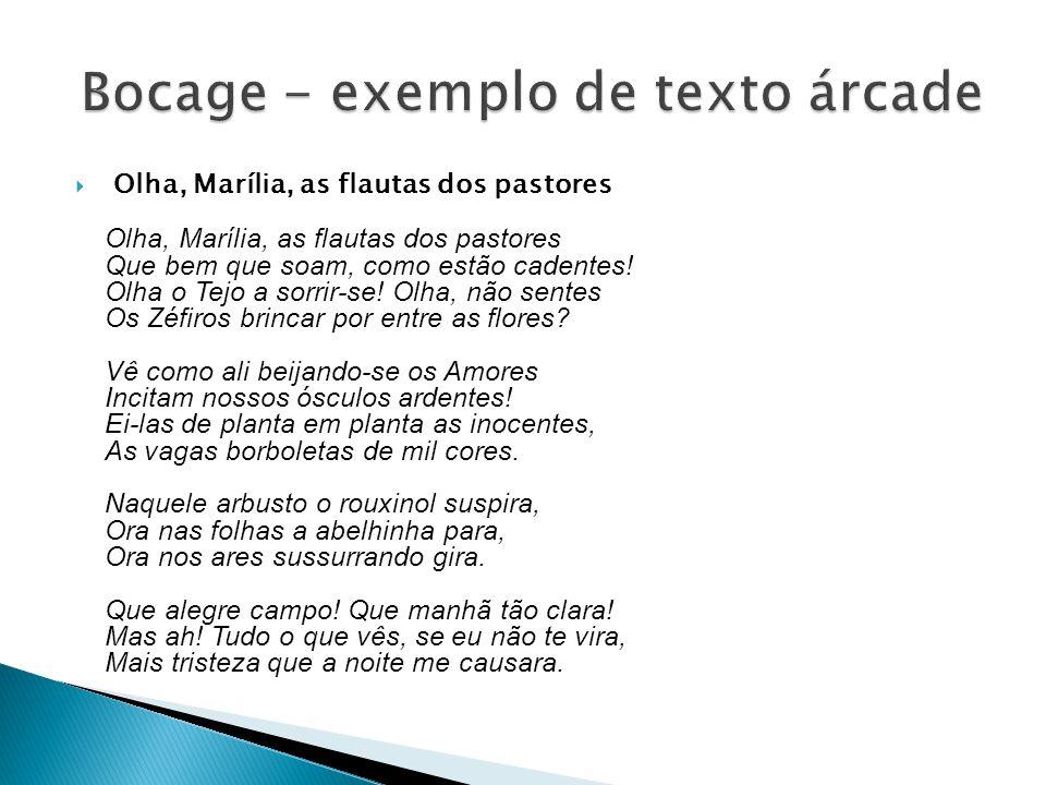 Bocage - exemplo de texto árcade