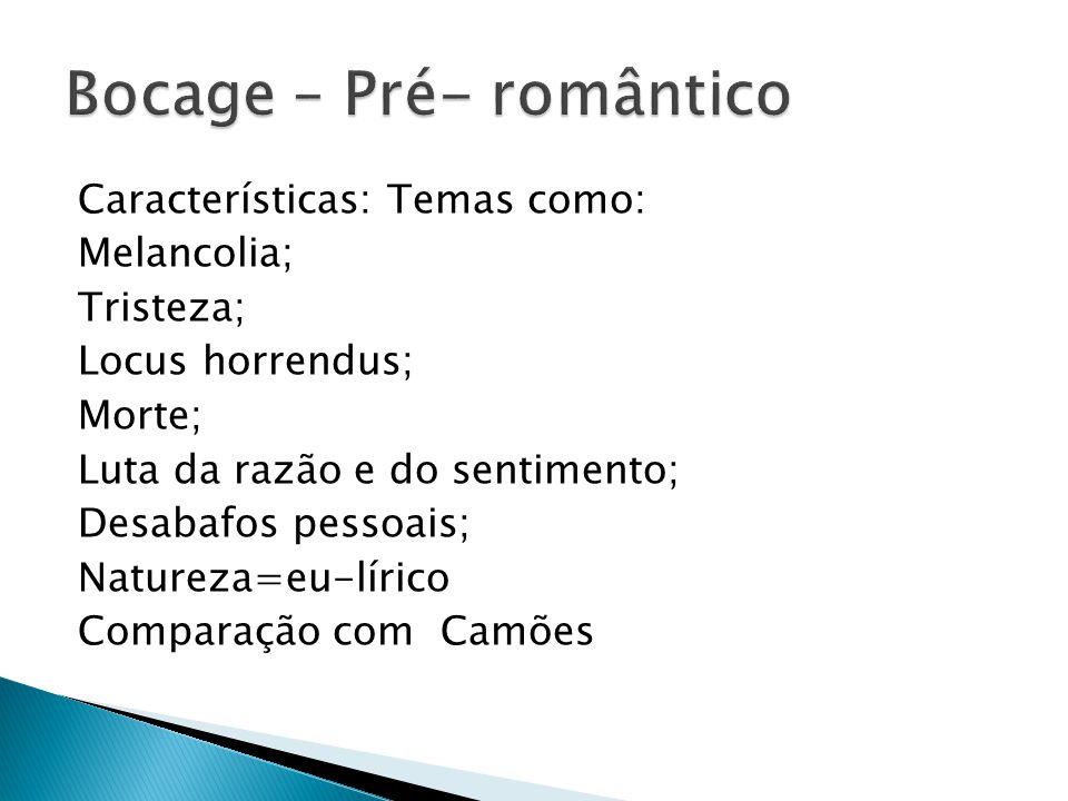 Bocage – Pré- romântico