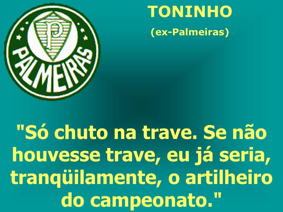 TONINHO (ex-Palmeiras) Só chuto na trave.
