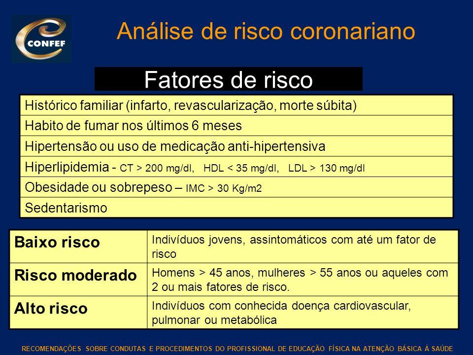 Análise de risco coronariano