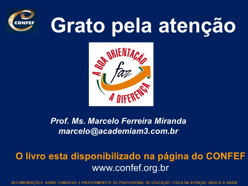 Prof. Ms. Marcelo Ferreira Miranda