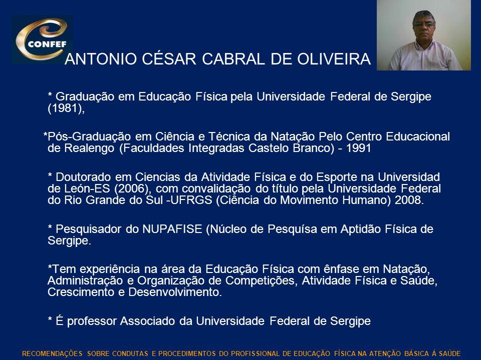 ANTONIO CÉSAR CABRAL DE OLIVEIRA