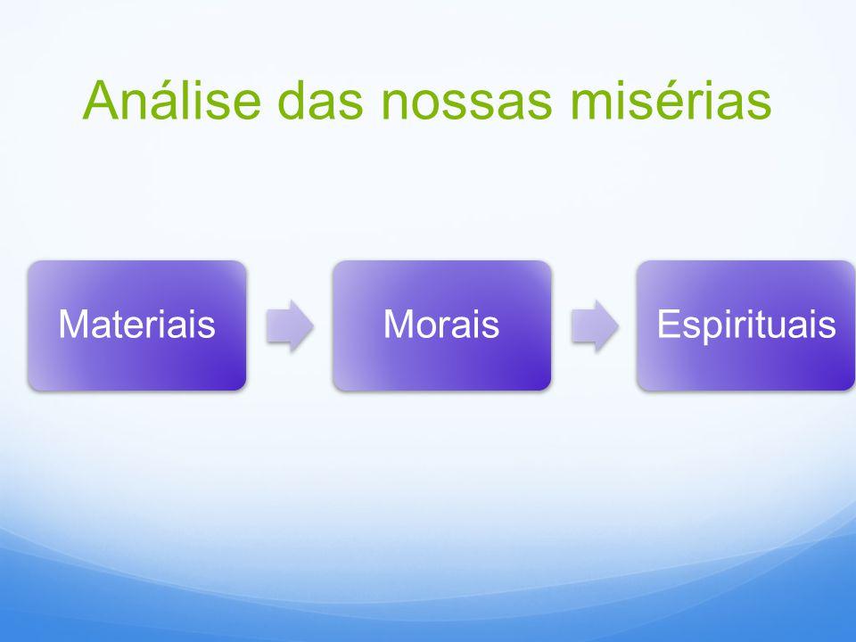 Análise das nossas misérias