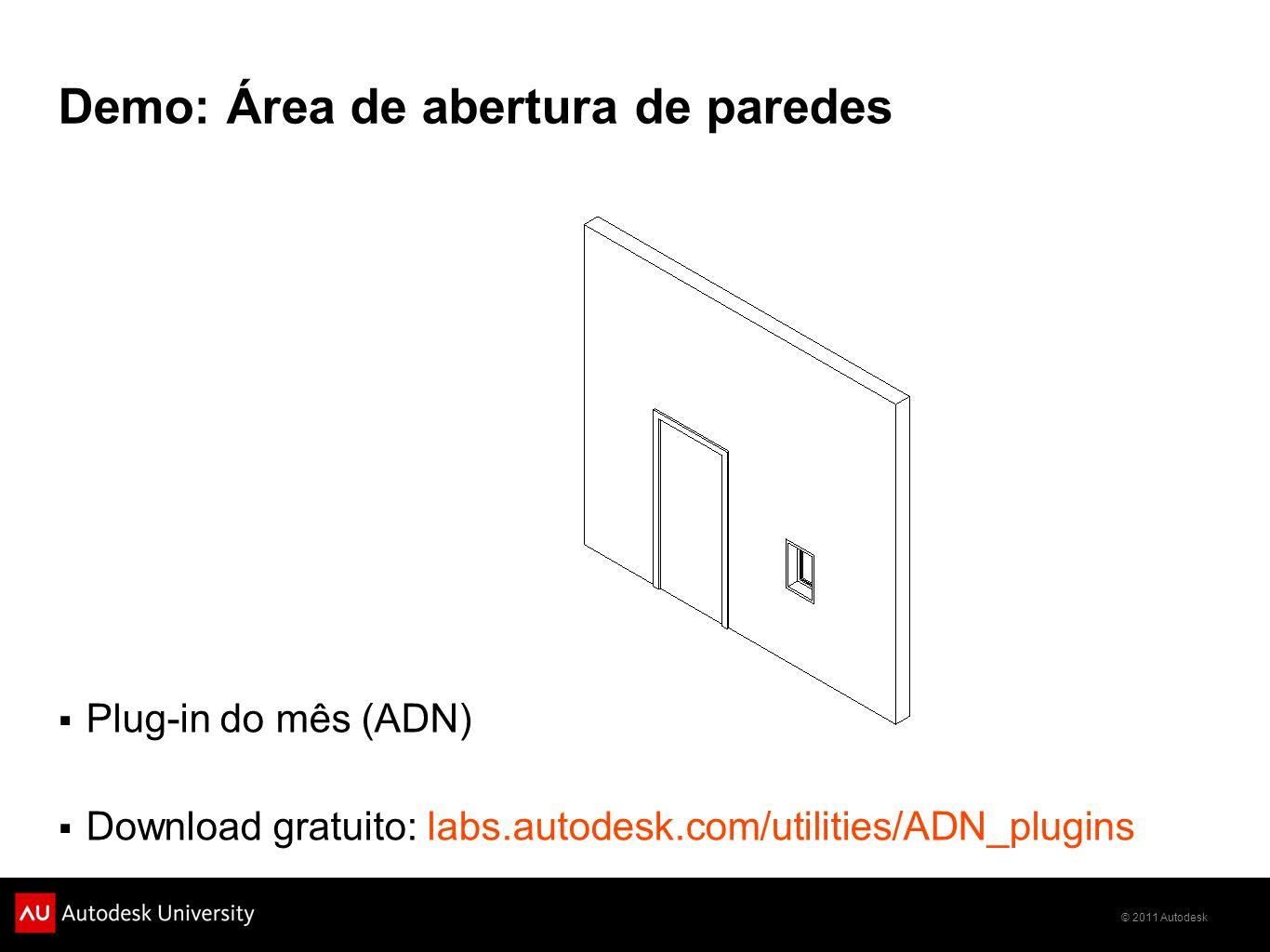 Demo: Área de abertura de paredes
