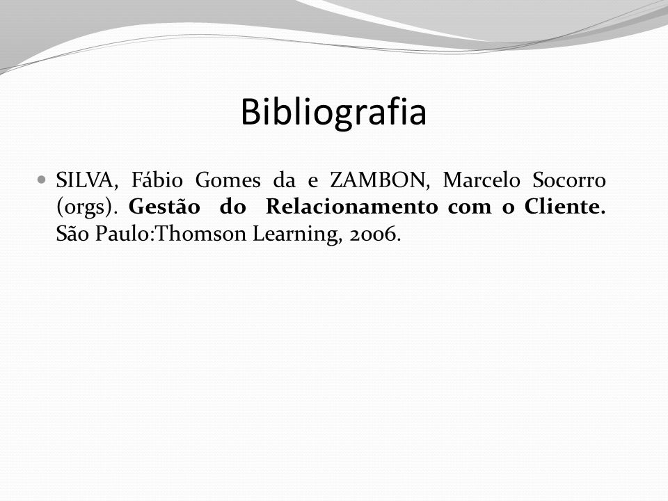 Bibliografia SILVA, Fábio Gomes da e ZAMBON, Marcelo Socorro (orgs).