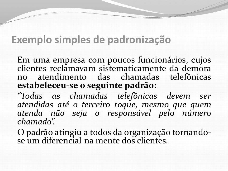 Exemplo simples de padronização