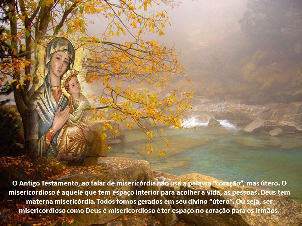 O Antigo Testamento, ao falar de misericórdia não usa a palavra coração , mas útero.