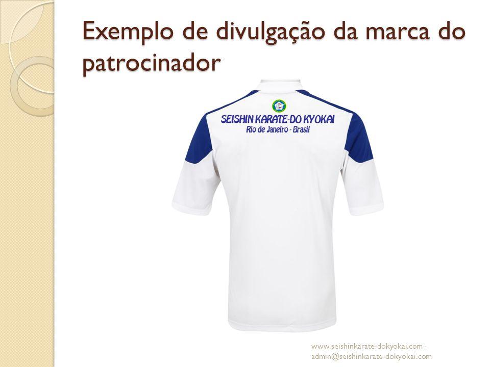 Exemplo de divulgação da marca do patrocinador