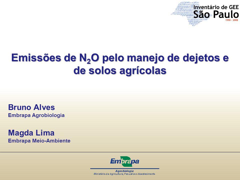 Emissões de N2O pelo manejo de dejetos e de solos agrícolas