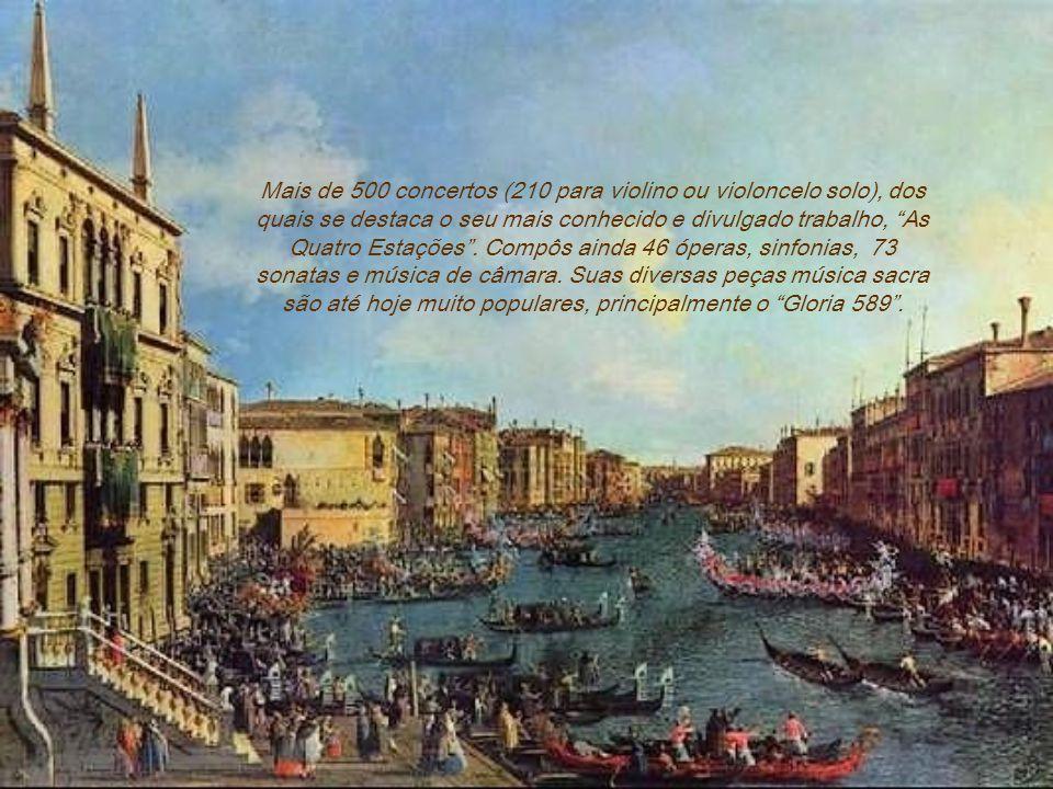 Mais de 500 concertos (210 para violino ou violoncelo solo), dos quais se destaca o seu mais conhecido e divulgado trabalho, As Quatro Estações .