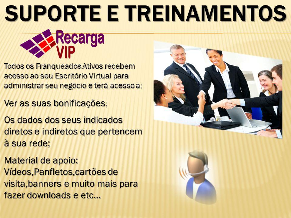 SUPORTE E TREINAMENTOS