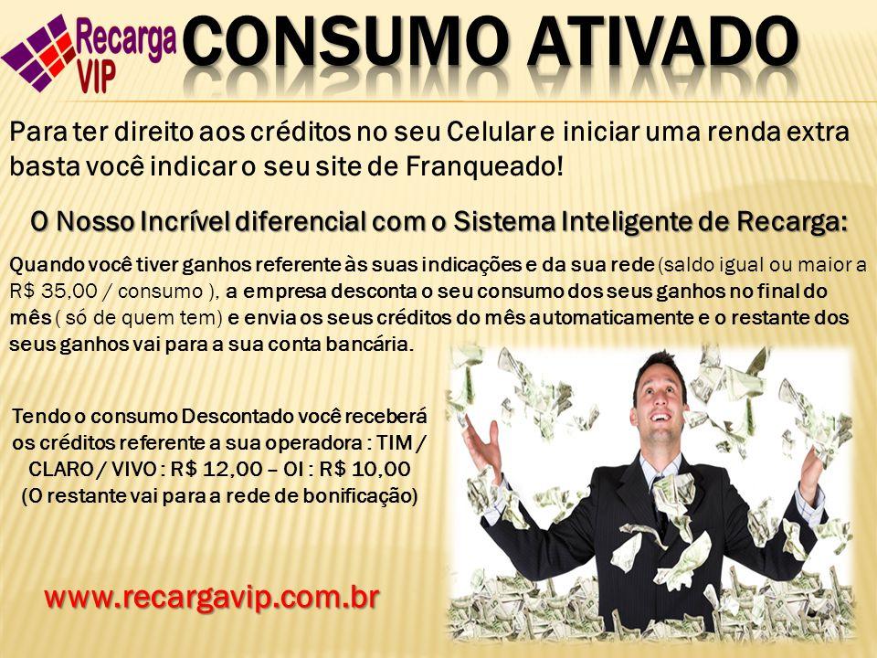 CONSUMO ATIVADO www.recargavip.com.br